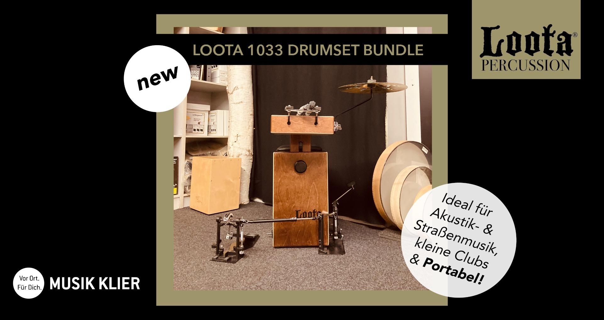 Loota Percussion 1033 Drumset Bundle