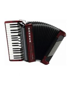 Hohner Amica III 72 Design 2, rot inkl. Koffer