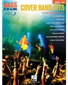 Hal Leonard Bass Play-Along Vol.32 Cover Band Hits