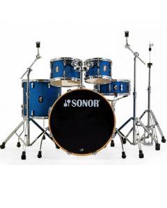 """Sonor AQ1 Stage Drumset 22/10/12/16"""" inkl. Hardware Dark Blue Sparkle (Folie)"""