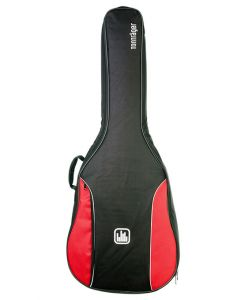 Tonträger TG10CQ/RB Tasche Konzertgitarre 1/4 red black