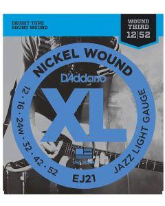 DAddario EJ21 Nickel Wound Jazz Light 012-052