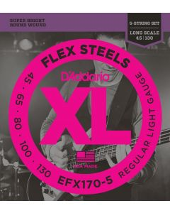 DAddario EFX170-5 Flex Steel Bass 5-String 40-130
