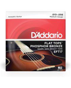 DAddario EFT17 Flat Tops Medium 013-056
