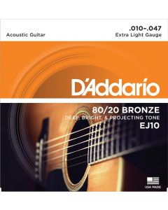 DAddario EJ10 80/20 Bronze Extra Light 010-047