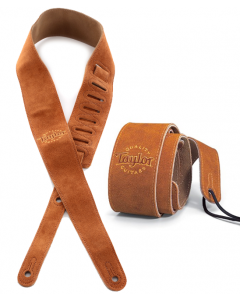 Taylor Strap Honey Suede Logo