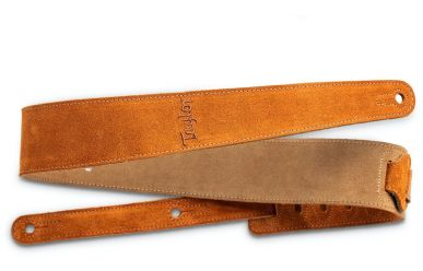 Taylor Guitar Strap, Honey, Embroidered Suede, 2.5""