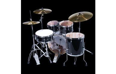 """Pearl EXX705NBR/C Export Drumset Jet Black, incl. Becken 20/10/12/14"""""""