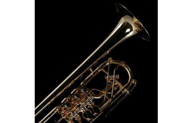 Schagerl Wien C-Trompete vergoldet
