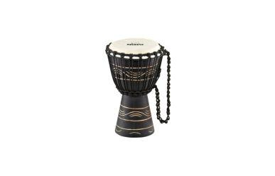 "Nino African Style Wood Djembe Moon Rhythm Design 7"""