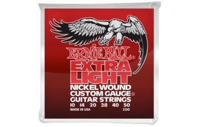 Ernie Ball 2210 Nickel Wound Custom Gauge Extra Light w/ wound G .010 - .050