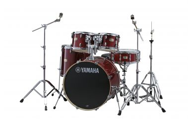 "Yamaha SBP2F5-CR Stage Custom  22/10/12/16"" Cranberry Red mit Hardware"