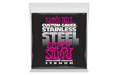 Ernie Ball 2248 Stainless Steel Super Slinky .009-.042