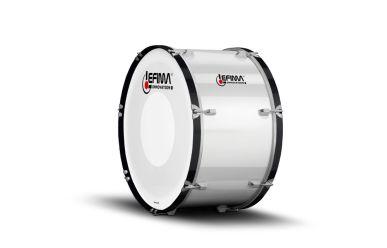"Lefima MB-BUL-2414-2HH Große Trommel 24x14"" Ultra Leicht weiß"