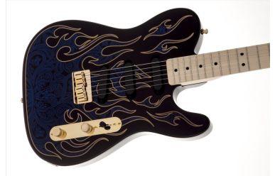 Fender Artist James Burton Telecaster Blue Paisley Flames
