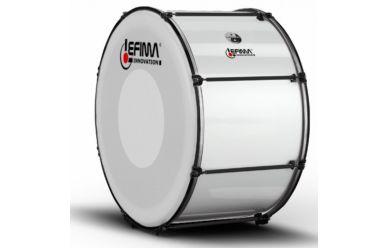 """Lefima MB-BMS-2414-2HM Große Trommel 24x14"""" CarboStroke, weiss"""
