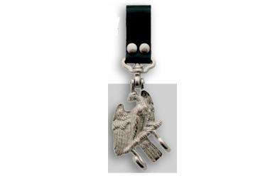 Lefima 487S Trageadler, klein für Koppel, Leder schwarz