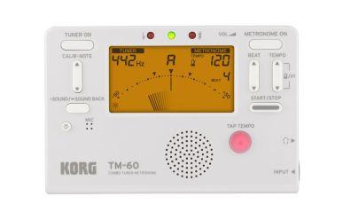 Korg TM-60 WH Stimmgerät und Metronom weiß