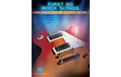 HL131159       First 50 rock songs you should play on electric guitar