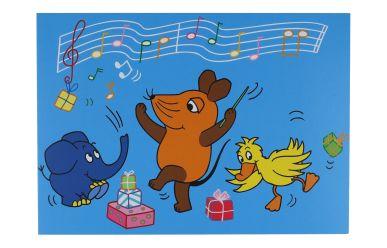 0318KAMO Postkarte Geburtstagsständchen mit der Maus
