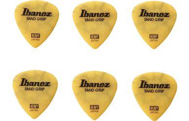Ibanez Flat Pick Sand Grip Crack Modell gelb Heavy