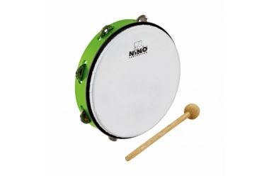 "Nino ABS Tambourine mit Jingles Grün 10"""