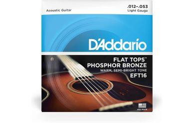 DAddario EFT16 012-053 Acoustic Flat Tops Phosphor Bronze