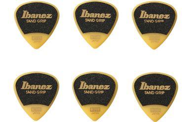 Ibanez Grip Wizard 6er Pack Plektren, yellow. Medium