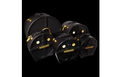 """Hardcase HROCKFUS-3 CaseSet 22/10/12/16"""" Standtom incl. Snare"""
