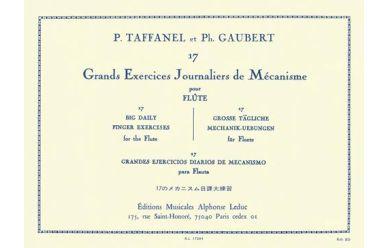 Taffanel/Gaubert  17 Grands exercices journaliers de mécanisme