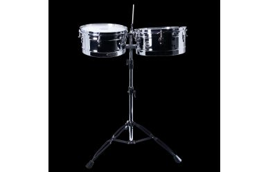 Headliner HT1314CH Timbales incl. Ständer 13&14""