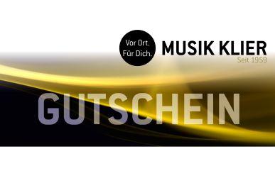 MUSIK KLIER Geschenk Gutschein 25,00 €