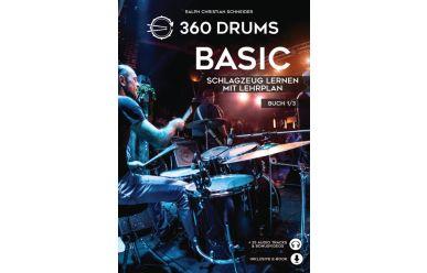 360 Drums Basic, Schlagzeug Lernen mit Lehrplan 1/3