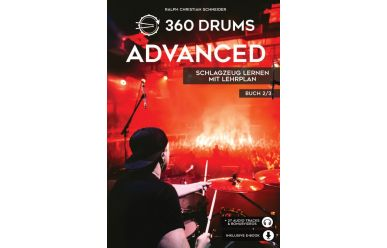 360 Drums Advanced, Schlagzeug Lernen mit Lehrplan 2/3