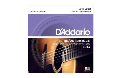 DAddario EJ13 80/20 Bronze Custom Light 011-052