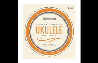 DAddario EJ88B Nyltech Ukulele Baritone 026-030 Satz