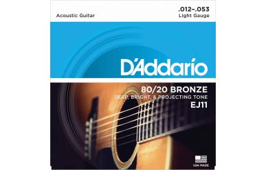 DAddario EJ11 80/20 Bronze Light 012-053