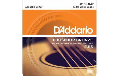 DAddario EJ15 Phosphor Bronze Extra Light 010-047