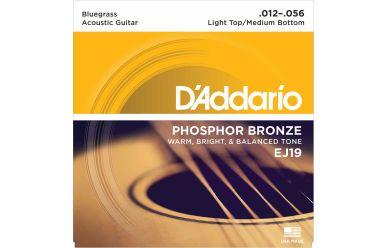 DAddario EJ19 Phosphor Bronze Bluegrass Light Top/Medium Bottom 012-056