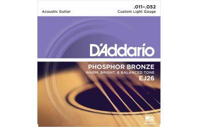 DAddario EJ26 Phosphor Bronze Custom Light 011-052