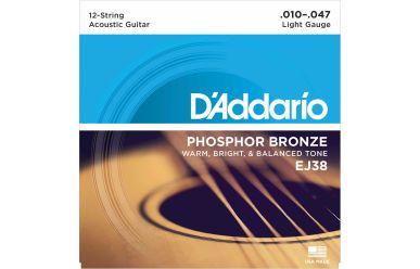 DAddario EJ38 Phosphor Bronze 12-String Light 010-047