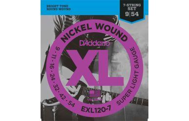 DAddario EXL120-7 Nickel Wound 7-String Light 009-052 Satz
