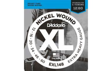 DAddario EXL148 Nickel Wound Extra Heavy 012-060 Satz