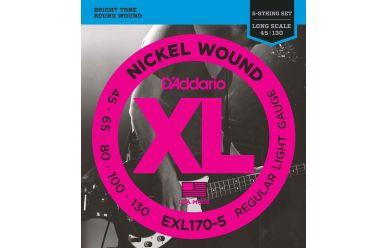DAddario EXL170-5 Nickel Wound 5-String Bass Light 045-130 Long Scale