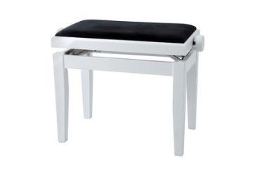 Gewa Klavierbank DeLuxe Weiß Matt