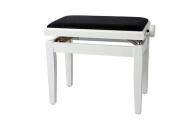 Gewa Klavierbank DeLuxe Weiß Poliert