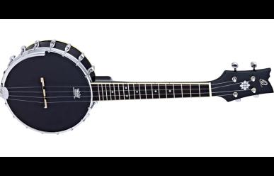 Ortega OUBJ100-SBK Banjo Ukulele 4-Str. Satin Black