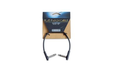 RockBoard Flat Patch Cable, Black, 20 cm