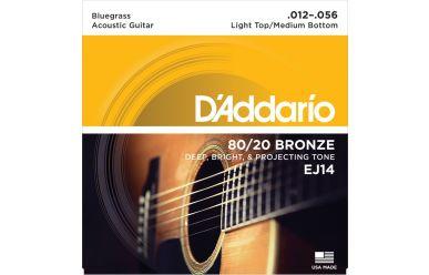 DAddario EJ14 80/20 Bronze Bluegrass Light Top/ Medium Bottom 012-056