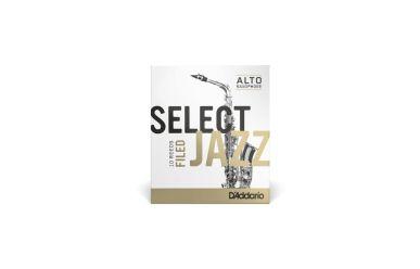 DAddario Select Jazz Altsaxophonblätter Stärke 2S Filed